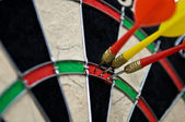 Hit point in darts — Stock Photo