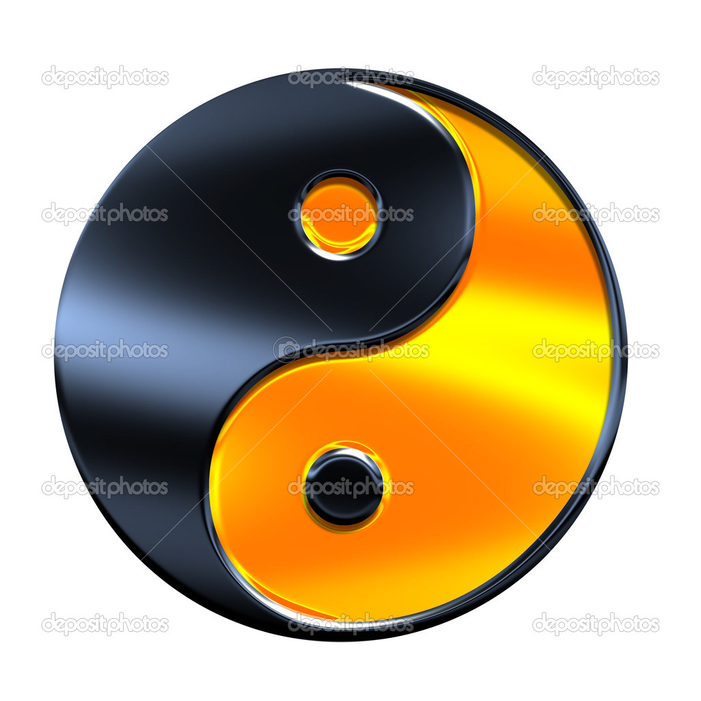 Yin - yang symbol isolated on white — Stock Photo #1148976