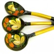 Stock Photo: Three beautiful wooden spoons