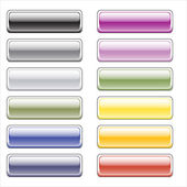 Color glossy buttons for the web — Stock Vector