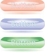 Botones de colores brillantes para web. — Vector de stock