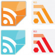 RSS icons set. — Vector de stock