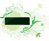 Green floral banner. — Stock Vector