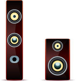 Audio högtalare. — Stockvektor