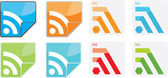 RSS icons set. — Stock Vector