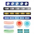 Set of buttons template for web - Stock Vector