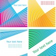 Set of striped vector backgrounds. — Stok Vektör