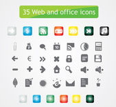 35 web and office icons. — Stock Vector
