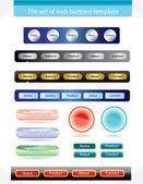 Set of buttons template for web — Stock Vector