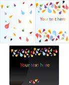 Set of colored drops background — Stock Vector