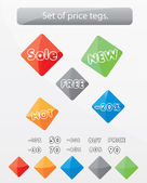 Set of glossy price tags. — Stock Vector