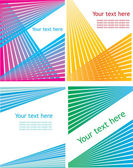 Set of striped vector backgrounds. — Stock Vector
