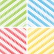 Royalty-Free Stock Vector Image: Set of striped backgrounds.