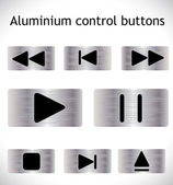 Steel control buttons. — Stock Vector