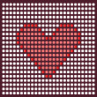 Pixel heart. — Stock Vector #1483147