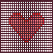 Pixel heart. — Stock Vector