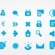 Big set of finance and blog icons. — Vettoriale Stock