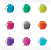 Colorful orbs for web. — Stock Vector