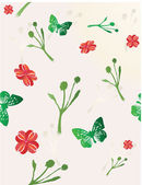 Flower seamless pattern. — Stock Vector