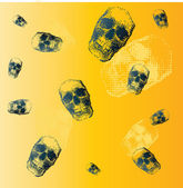 Cool pattern with skulls. — Stock Vector