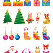Christmas icon set — Vector de stock
