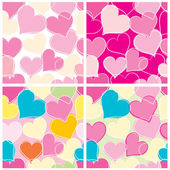 Hearts background tiled — Stock Vector