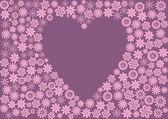 Blomma hjärta — Stockvektor