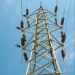 Stock Photo: Blue sky and iron electrical tower.