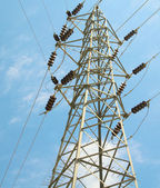 Blue sky and electrical tower. — Stock Photo