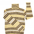 Modern striped yellow sweater on a white — Stock Photo