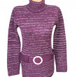 Stock Photo: Stylish violet tunic on white..