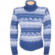 Blue stylish sweater on a white. — Stock Photo