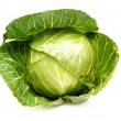 Cabbage isolated on a whiteground. — Photo
