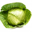 Cabbage isolated on a whiteground. — Foto Stock