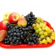Fruits and bunches of grapes. — Stock Photo