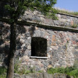 Stock Photo: Castle wall window.
