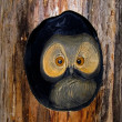 Stock Photo: Wooden owl.