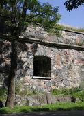 Castle wall window. — Stock Photo