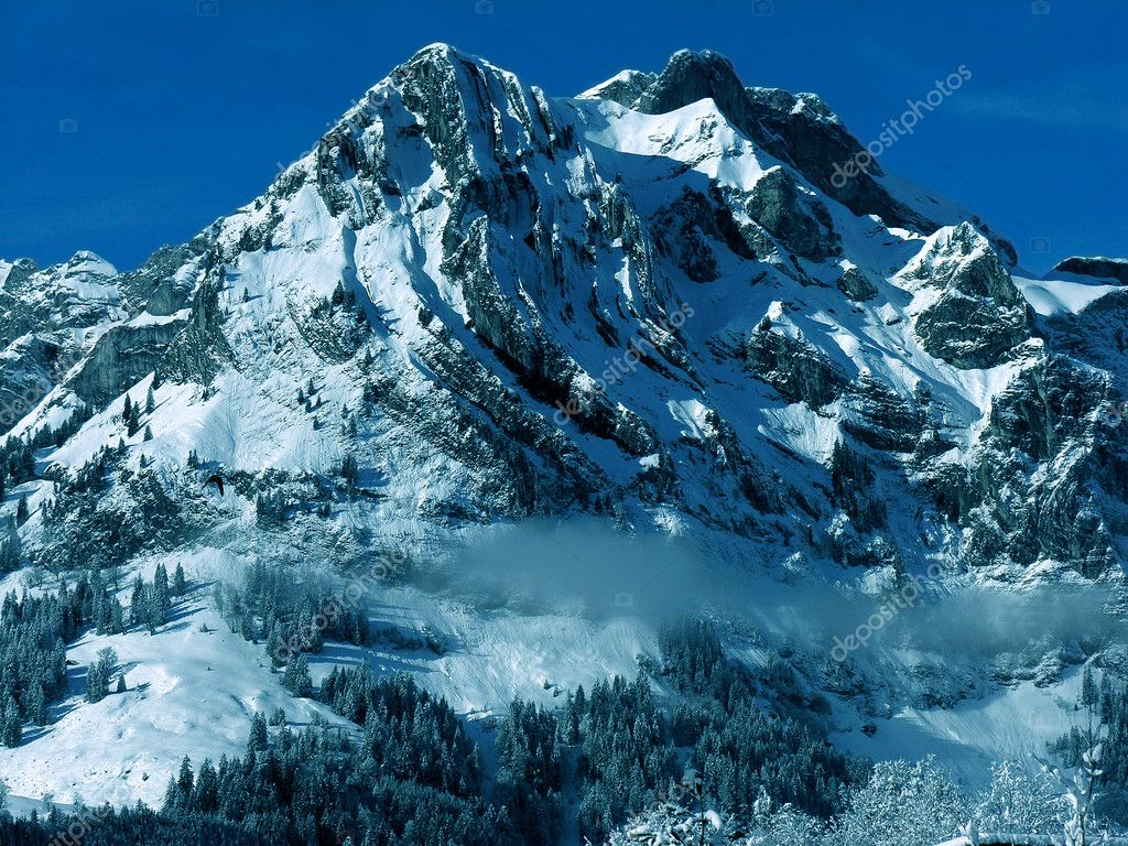 Mount at Engelberg vally, Switzerland, Alps. — Stock Photo #1152949