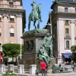 Monument in center of Stockholm.. - Stock Photo