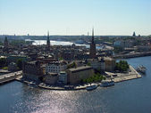 Stockholm townscape from a Town Hall Tow — Stock Photo