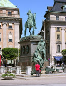 Monument in center of Stockholm.. — Stock Photo