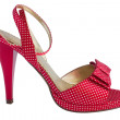 Red sandal in pea 3 — Stock Photo