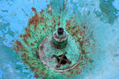 Rusty waterless drinking fountain — Stock Photo
