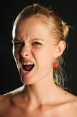 A woman is a splash of emotions — Stock Photo