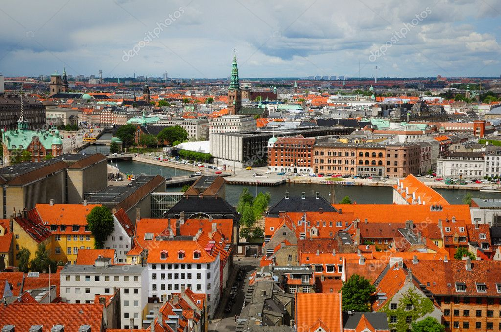Kind from the roof of spire of The Church of Our Saviour in Copenhagen, Denmark — Stock Photo #1239083