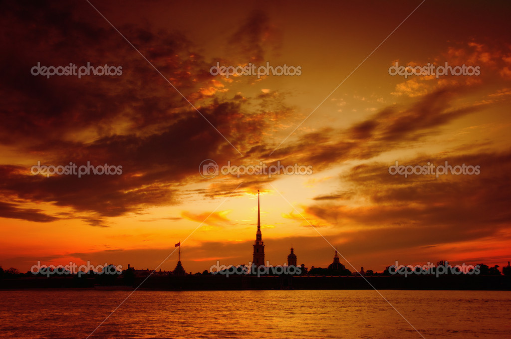 St. Petersburg, Russia, The Peter and Paul Cathedral.  Stock Photo #1290026