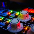 Audio mixing console - Foto Stock