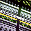 Audio mixing console — Foto de Stock