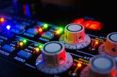 Console de mixagem de áudio — Foto Stock